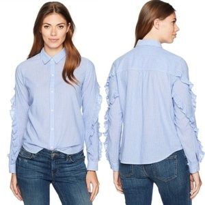 Rails Lizzi Button Down Shirt - Bellflower Stripe